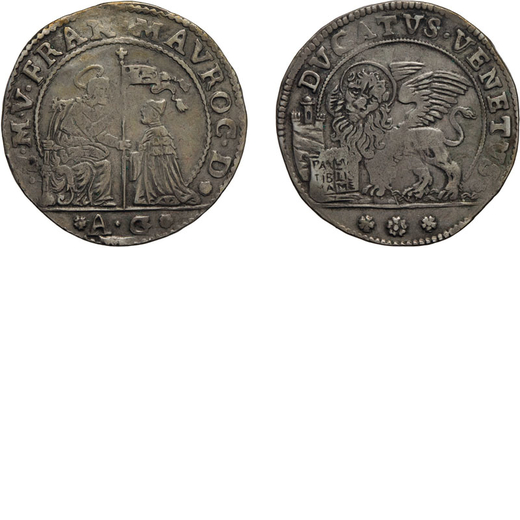 ZECCHE ITALIANE. VENEZIA. FRANCESCO MOROSINI (1688-1694). DUCATO  Argento, 22,63 gr, 39 mm. qBB<br>D