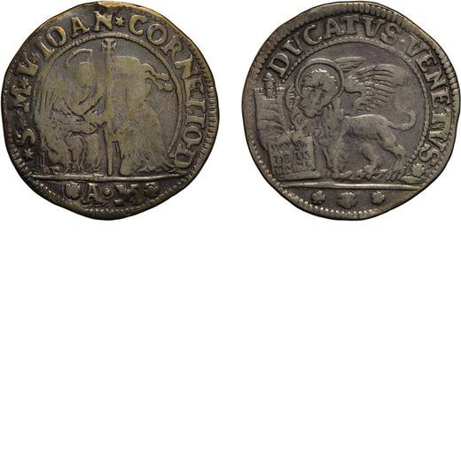 ZECCHE ITALIANE. VENEZIA. GIOVANNI CORNER II (1709-1722). DUCATO Argento, 22,09 gr, 39 mm. MB<br>D: