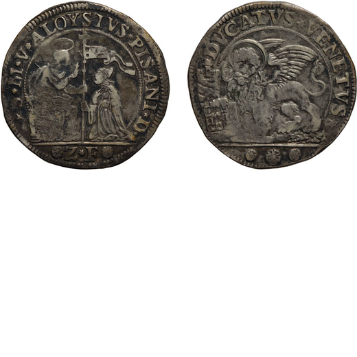 ZECCHE ITALIANE. VENEZIA. ALVISE PISANI (1735-1741). DUCATO Argento, 22,56 gr, 39 mm. MB<br>D: San M