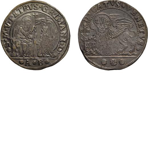 ZECCHE ITALIANE. VENEZIA. PIETRO GRIMANI (1741-1752). DUCATO Argento, 22,59 gr, 39 mm. BB<br>D: San