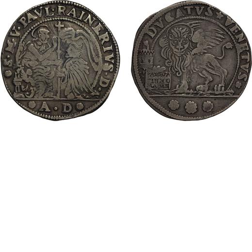 ZECCHE ITALIANE. VENEZIA. PAOLO RENIER (1779-1789). DUCATO Argento, 22,21 gr, 39 mm. qBB<br>D: San M