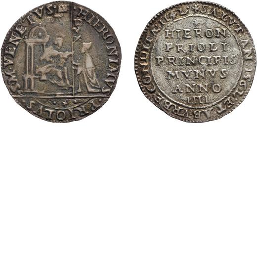ZECCHE ITALIANE. VENEZIA. GEROLAMO PRIULI (1559-1567). OSELLA ANNO IV Argento, 5,84 gr, 31 mm. MB<br