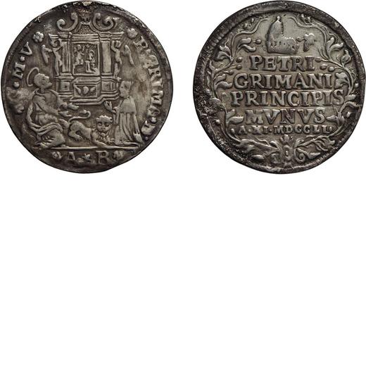 ZECCHE ITALIANE. VENEZIA. PIETRO GRIMANI (1741-1752).  OSELLA ANNO XI Argento, 9,80 gr, 37 mm. MB+<b