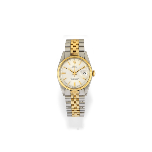 8af26fedef4 A GOLD AND STAINLESS STEEL WRISTWATCH